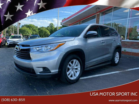 2016 Toyota Highlander for sale at USA Motor Sport inc in Marlborough MA
