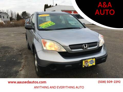 2007 Honda CR-V for sale at A&A AUTO in Fairhaven MA