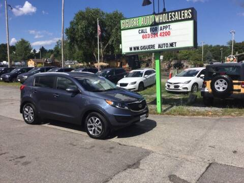 2014 Kia Sportage for sale at Giguere Auto Wholesalers in Tilton NH