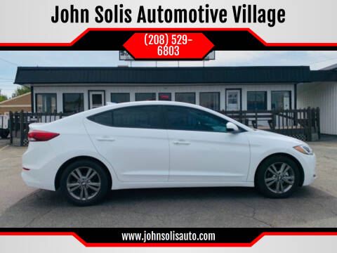 2017 Hyundai Elantra for sale at John Solis Automotive Village in Idaho Falls ID