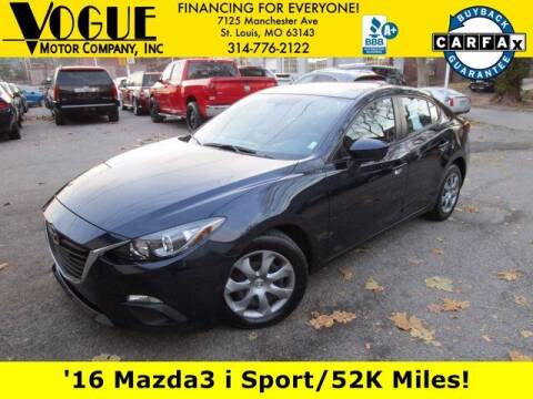 2016 Mazda MAZDA3 for sale at Vogue Motor Company Inc in Saint Louis MO