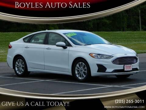 2019 Ford Fusion for sale at Boyles Auto Sales in Jasper AL