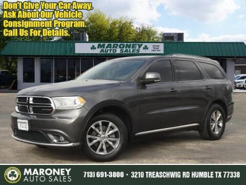 2016 Dodge Durango for sale at Maroney Auto Sales in Humble TX