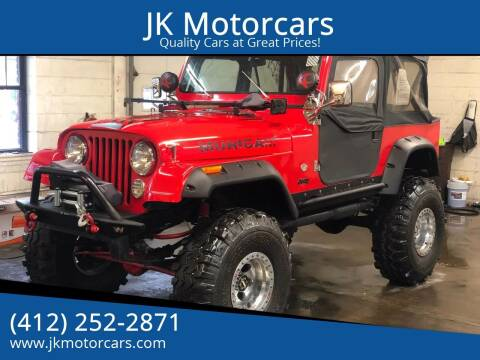 1980 Jeep CJ-7 for sale at JK Motor Cars in Pittsburgh PA