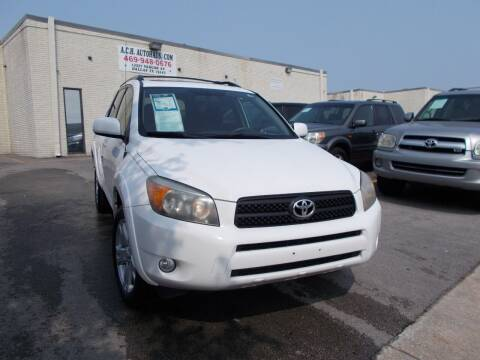 2006 Toyota RAV4 for sale at ACH AutoHaus in Dallas TX