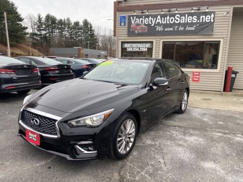 2020 Infiniti Q50 for sale at Variety Auto Sales in Worcester MA