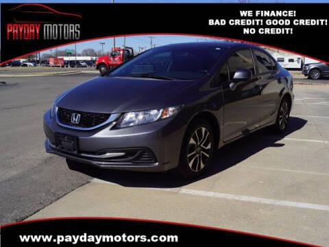 2013 Honda Civic for sale at Payday Motors in Wichita And Topeka KS