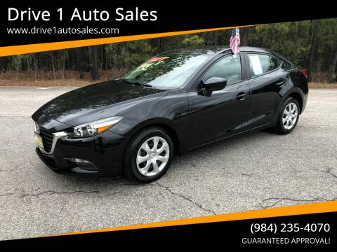 2017 Mazda MAZDA3 for sale at Drive 1 Auto Sales in Wake Forest NC