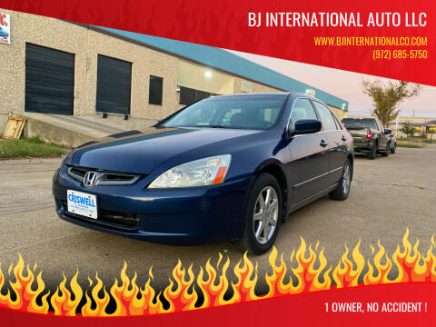 2003 Honda Accord for sale at BJ International Auto LLC in Dallas TX
