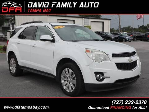 2010 Chevrolet Equinox for sale at David Family Auto in New Port Richey FL
