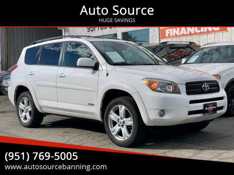 2008 Toyota RAV4 for sale at Auto Source in Banning CA