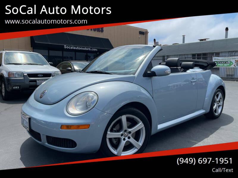 2009 Volkswagen New Beetle Convertible for sale at SoCal Auto Motors in Costa Mesa CA