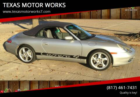 2000 Porsche 911 for sale at TEXAS MOTOR WORKS in Arlington TX