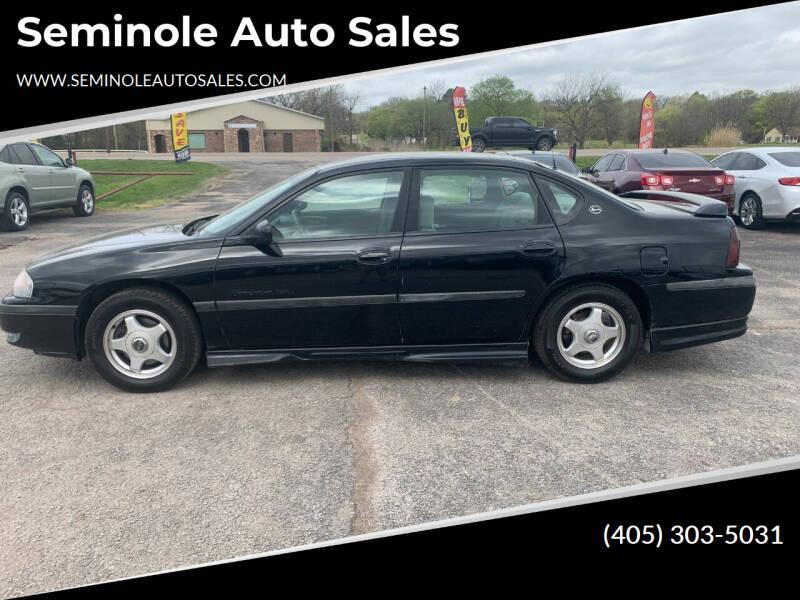 2001 Chevrolet Impala for sale at Seminole Auto Sales in Seminole OK