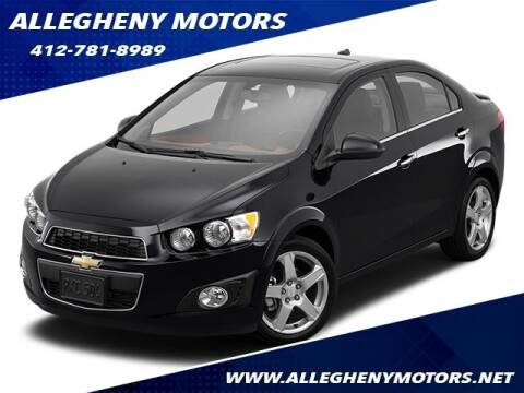 2014 Chevrolet Sonic for sale at Allegheny Motors in Pittsburgh PA