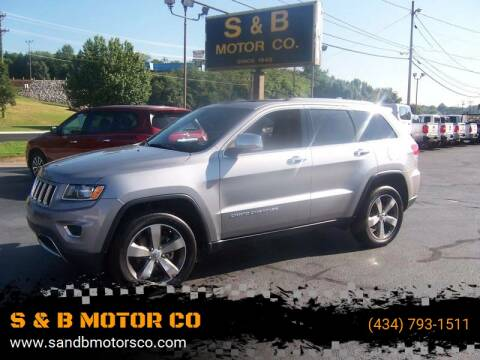 2015 Jeep Grand Cherokee for sale at S & B MOTOR CO in Danville VA