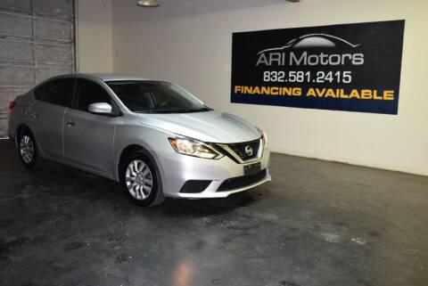 2017 Nissan Sentra for sale at ARI Motors in Houston TX