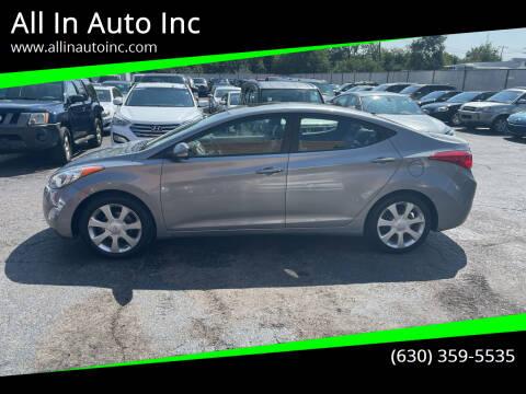 2011 Hyundai Elantra for sale at All In Auto Inc in Addison IL