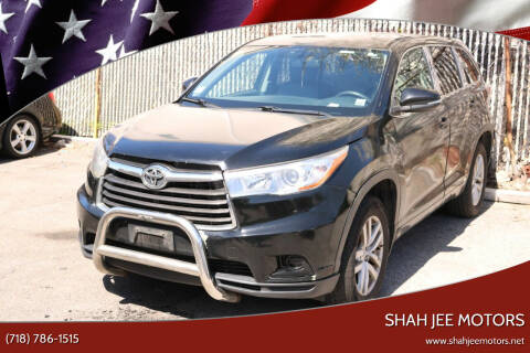 2015 Toyota Highlander for sale at Shah Jee Motors in Woodside NY