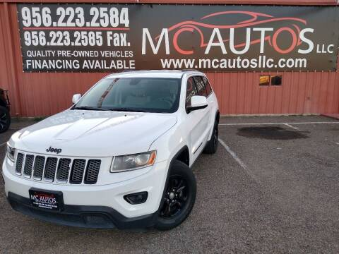 2014 Jeep Grand Cherokee for sale at MC Autos LLC in Pharr TX