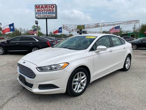 2013 Ford Fusion for sale at Mario Motors in South Houston TX