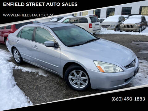 2003 Honda Accord for sale at ENFIELD STREET AUTO SALES in Enfield CT