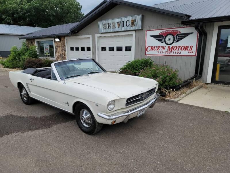 1965 Ford Mustang for sale at CRUZ'N MOTORS - Classics in Spirit Lake IA
