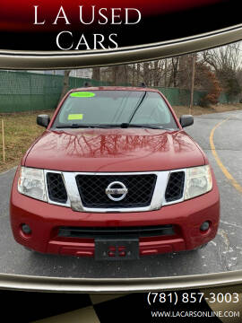 2008 Nissan Pathfinder for sale at L A Used Cars in Abington MA