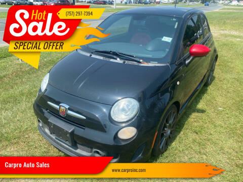2013 FIAT 500 for sale at Carpro Auto Sales in Chesapeake VA