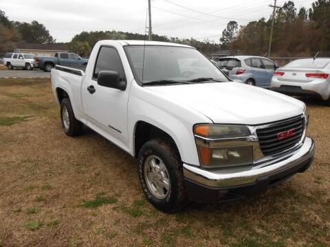 2005 GMC Canyon for sale at Jeff's Auto Wholesale in Summerville SC