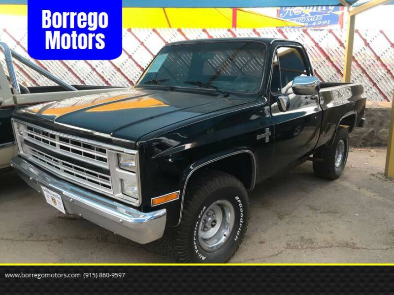 1986 Chevrolet C/K 10 Series for sale at Borrego Motors in El Paso TX