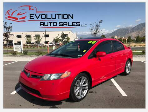 2008 Honda Civic for sale at Evolution Auto Sales LLC in Springville UT