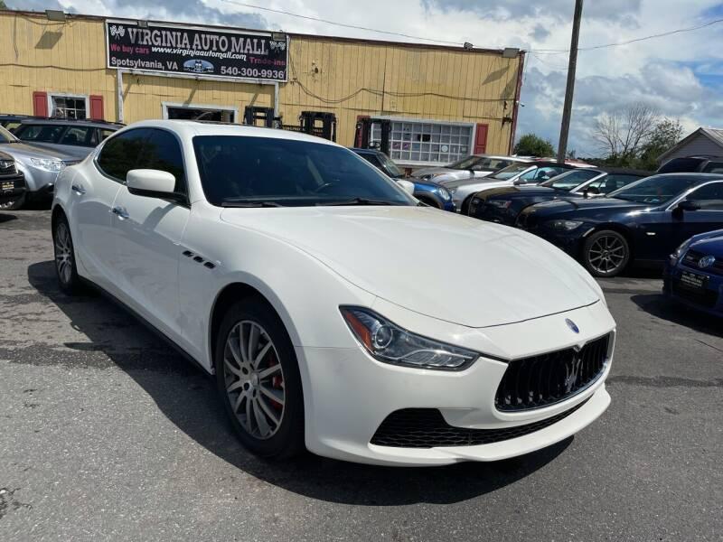 2014 Maserati Ghibli for sale at Virginia Auto Mall in Woodford VA
