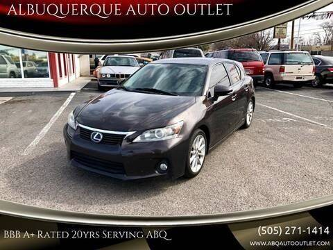 2012 Lexus CT 200h for sale at ALBUQUERQUE AUTO OUTLET in Albuquerque NM
