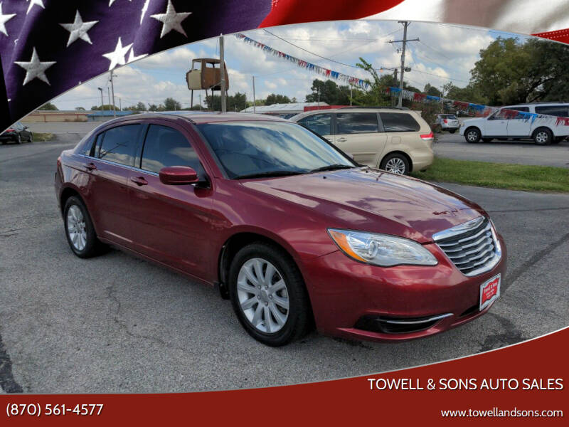 2013 Chrysler 200 for sale at Towell & Sons Auto Sales in Manila AR