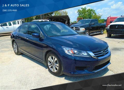 2014 Honda Accord for sale at J & F AUTO SALES in Houston TX