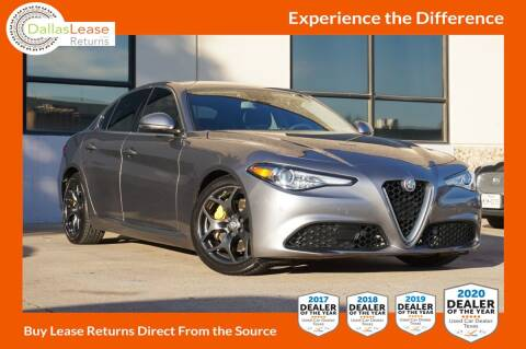 2018 Alfa Romeo Giulia for sale at Dallas Auto Finance in Dallas TX