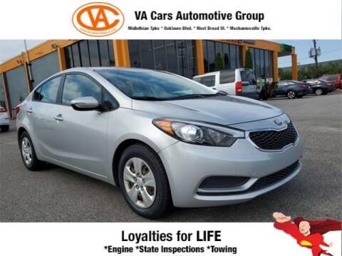 2016 Kia Forte for sale at VA Cars Inc in Richmond VA