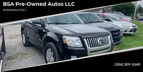2008 Mercury Mariner for sale at BSA Pre-Owned Autos LLC in Hinton WV