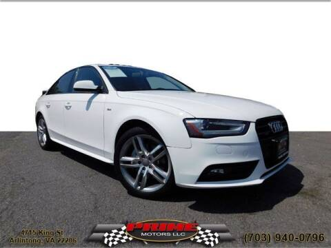 2016 Audi A4 for sale at PRIME MOTORS LLC in Arlington VA