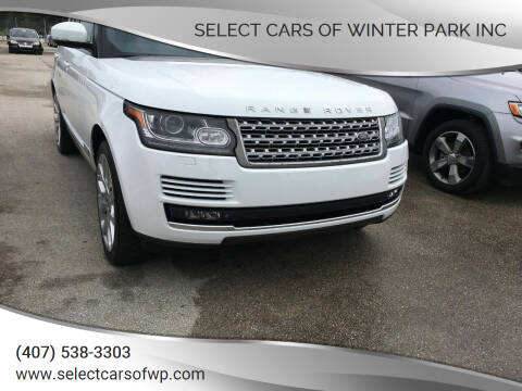 2015 Land Rover Range Rover for sale at Select Cars Of Winter Park Inc in Orlando FL