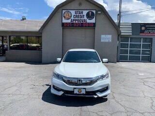 2016 Honda Accord for sale at Utah Credit Approval Auto Sales in Murray UT