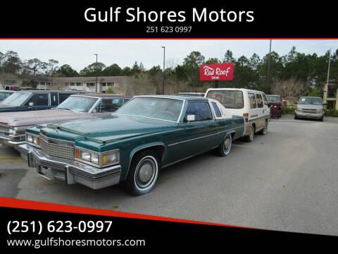1979 Cadillac DeVille for sale at Gulf Shores Motors in Gulf Shores AL