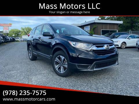 2018 Honda CR-V for sale at Mass Motors LLC in Worcester MA