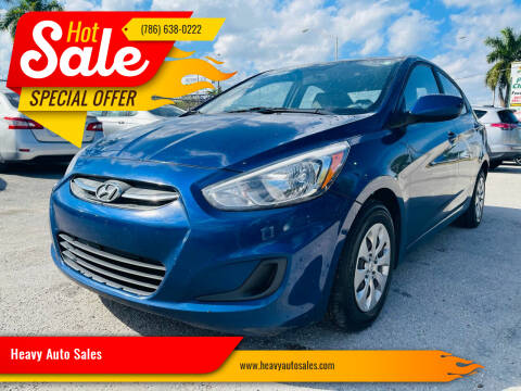 2016 Hyundai Accent for sale at Heavy Auto Sales in Miami FL
