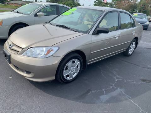2005 Honda Civic for sale at Doug White's Auto Wholesale Mart in Newton NC