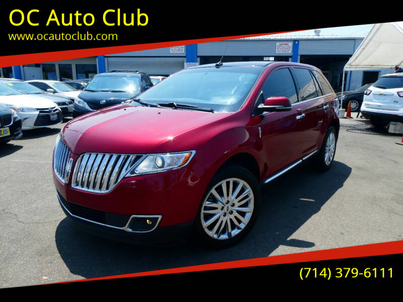 2013 Lincoln MKX for sale at OC Auto Club in Midway City CA