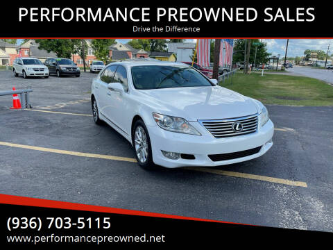 2012 Lexus LS 460 for sale at PERFORMANCE PREOWNED SALES in Conroe TX