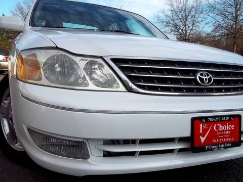 2004 Toyota Avalon for sale at 1st Choice Auto Sales in Fairfax VA