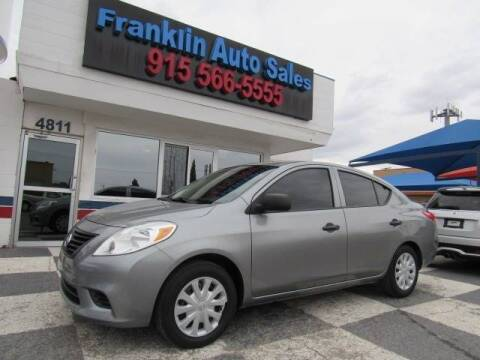 2014 Nissan Versa for sale at Franklin Auto Sales in El Paso TX